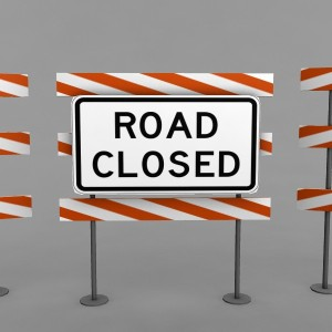 road-closed-3d-model-3